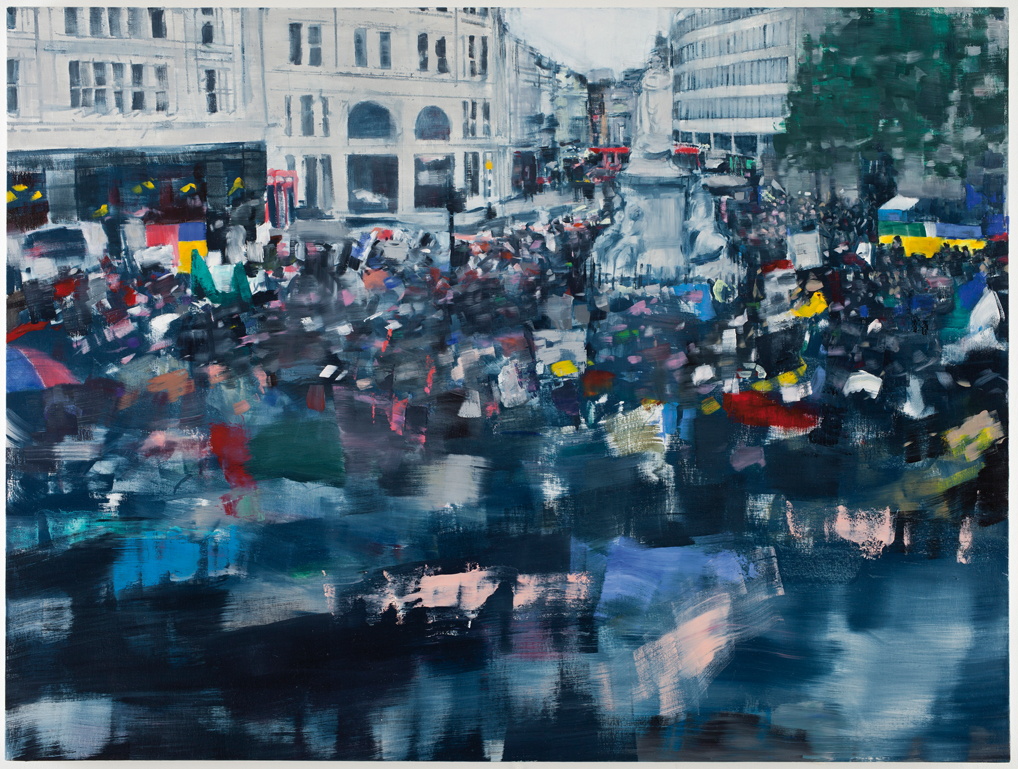 Occupy London - Oona Hassim (2009), oil on canvas