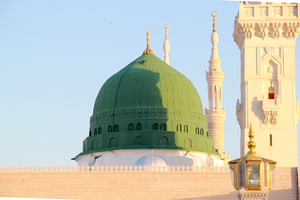 Green dome, Prophet's Mosque Nabawi, Madinah, Saudi Arabia