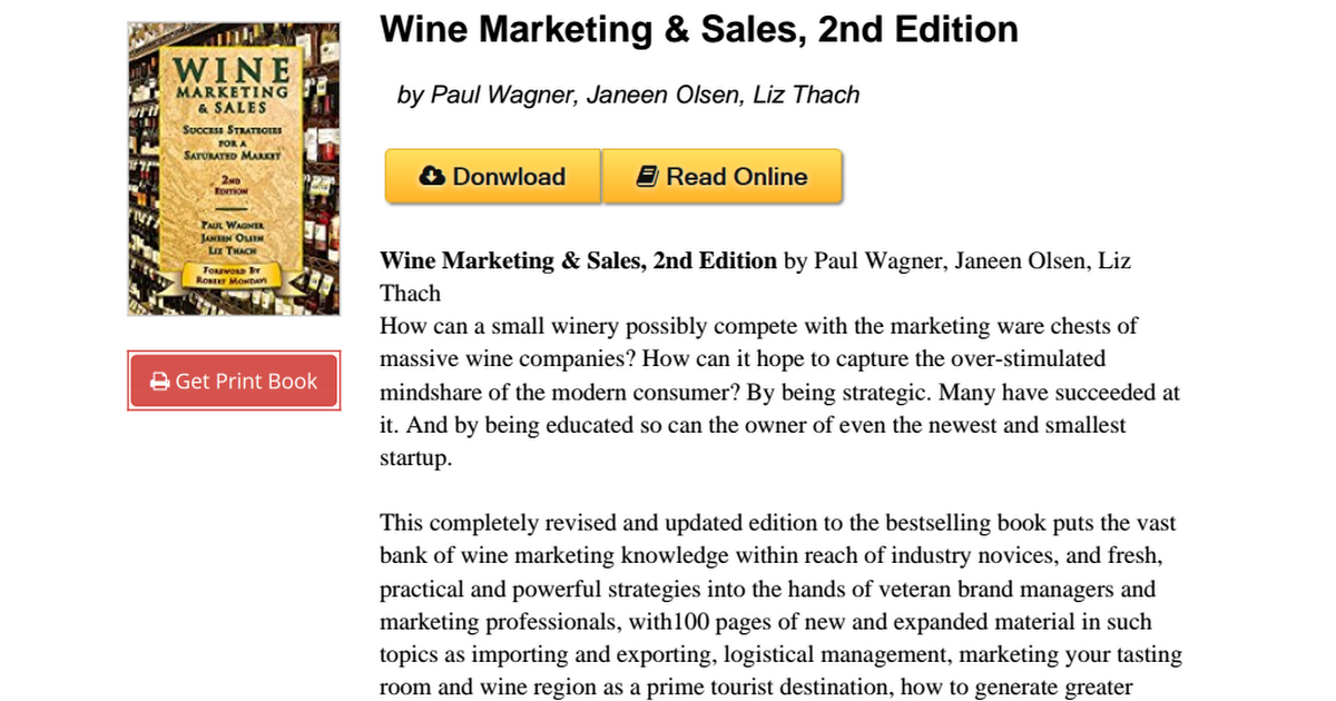 wine marketing sales success strategies for a saturated market