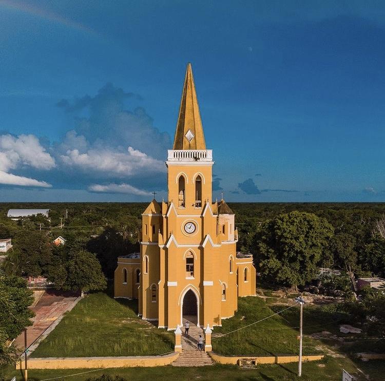Iglesia gótica Eknakan Yucatán