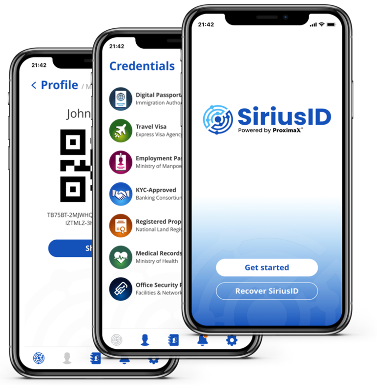 ProximaX SiriusID mobile app