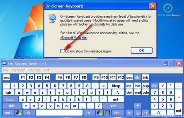 bàn phím ảo laptop