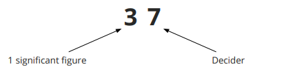 Rounding to 1 significant figure step 2