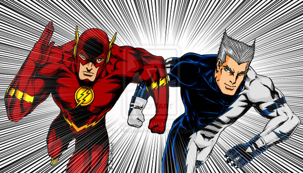 The Flash and Quicksilver - similar DC and Marvel Characters