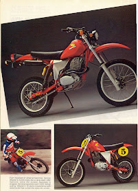 Cool dual sport C&J XR500 with the Mugen exhaust header