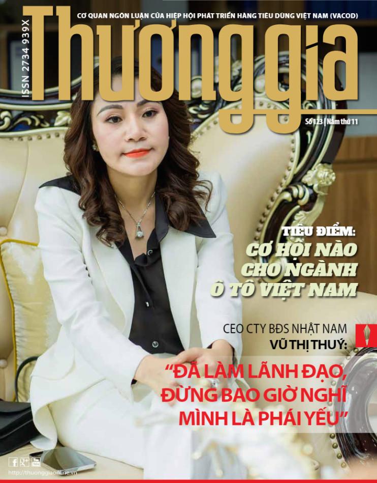 Nữ doanh nhân tài ba- Chủ tịch Vũ Thị Thuý xuất hiện trên tạp chí Thương gia