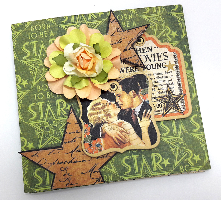 One Page Wonder Mini Album, by Einat Kessler, Vintage Hollywood, Product by Graphic 45, photo 1.jpg