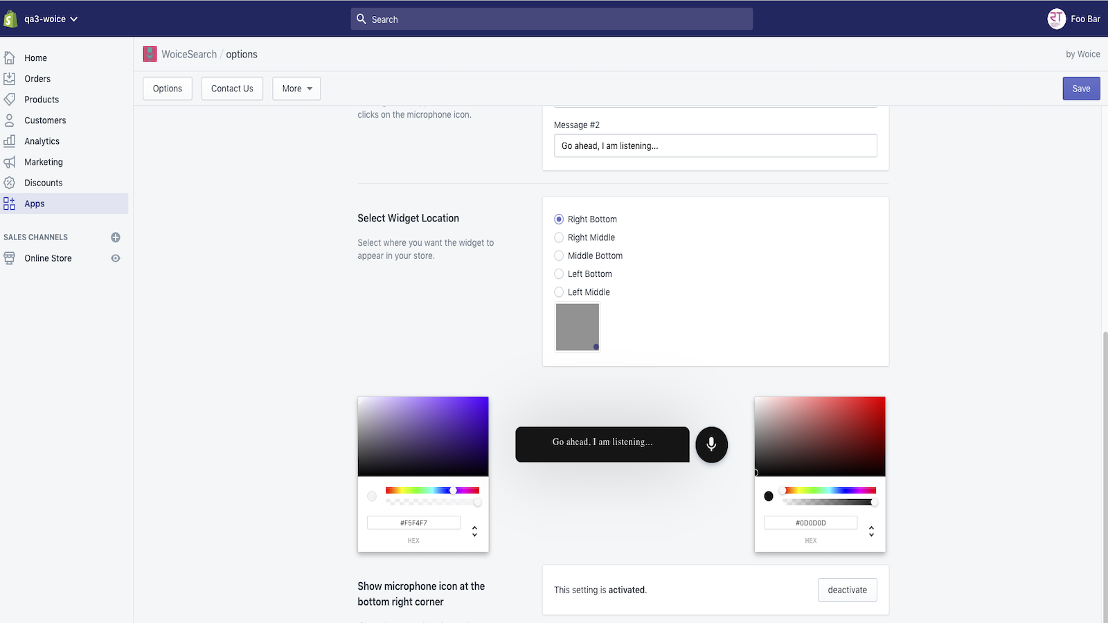Shopify color selector
