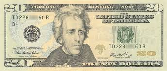 Image result for andrew jackson 20 dollar bill