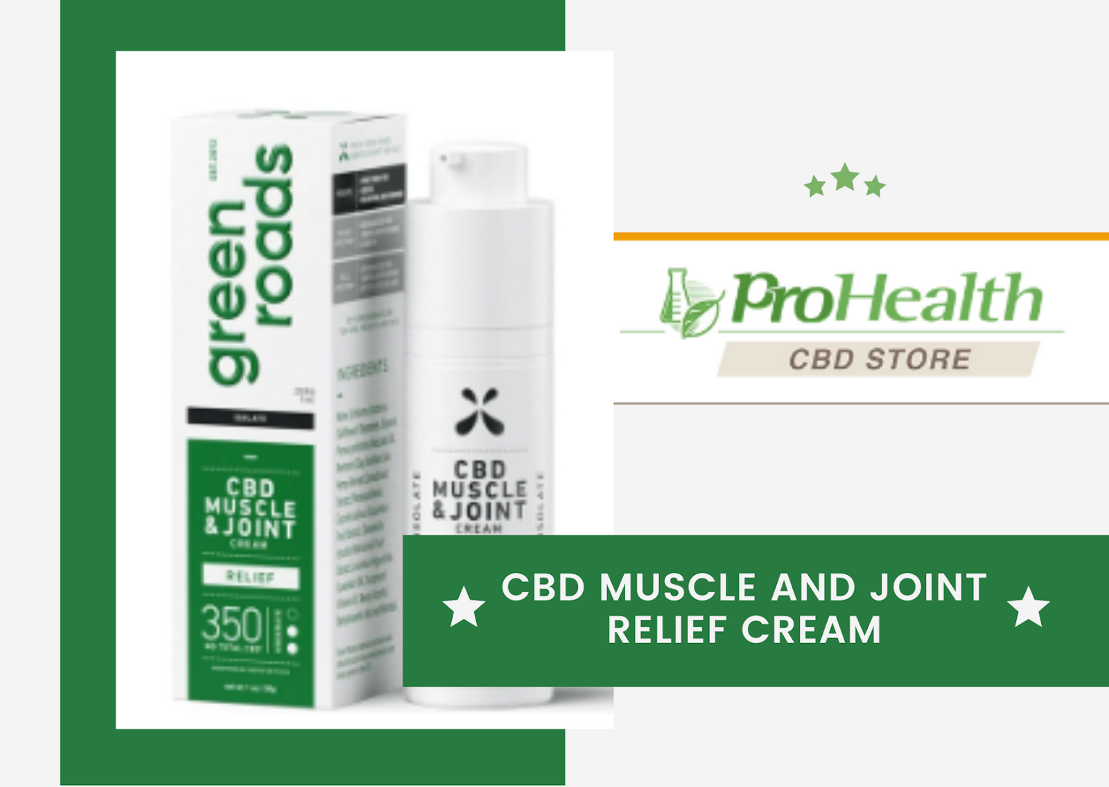 CBD Muscle and Joint Relief Cream