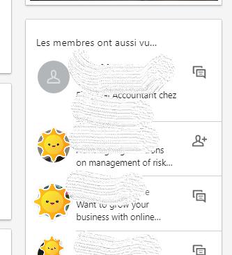 Profil similaire LinkedIn
