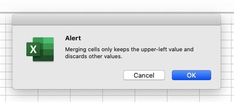 Microsoft Excel will give you a warning