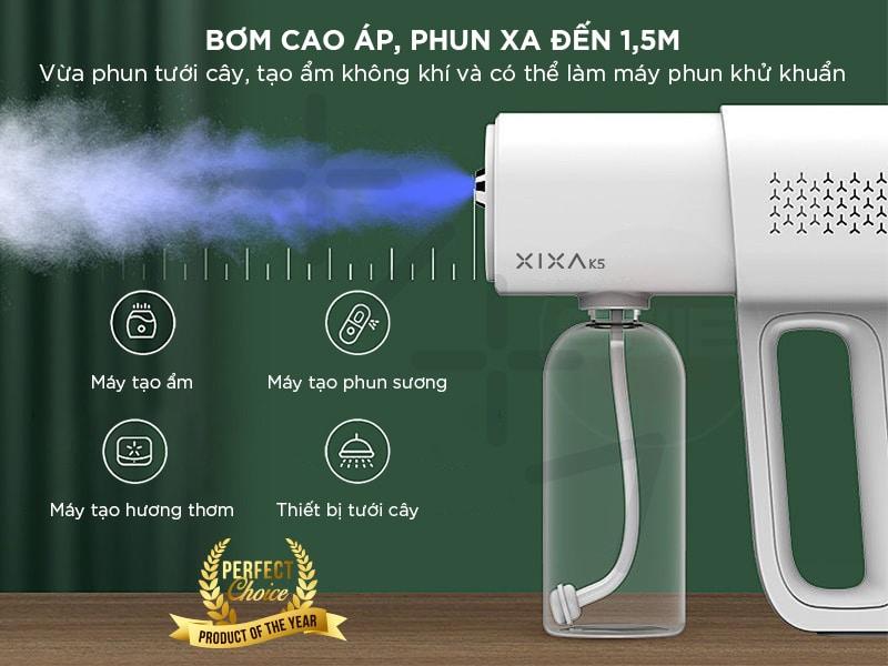 Review súng phun sương khử khuẩn tia UV Xixa K5