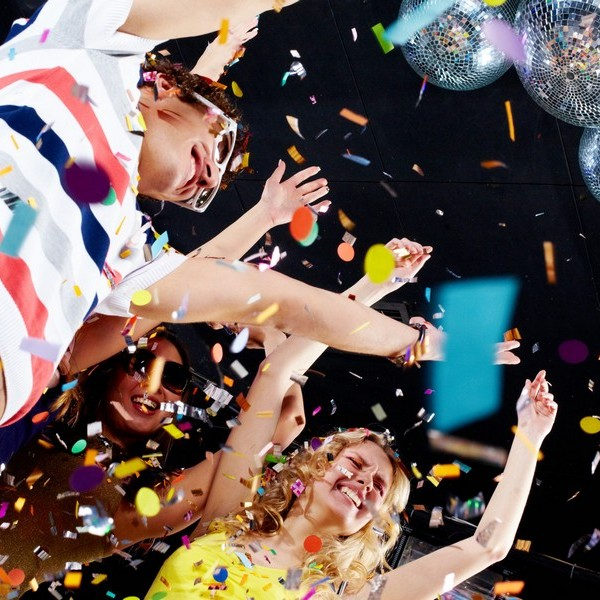Confetti in the air is fun and exciting