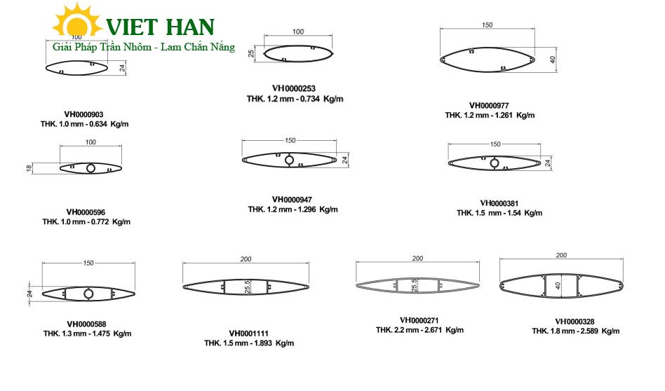 Tìm hiểu thông tin chi tiết về lam nhôm elip chất lượng cao