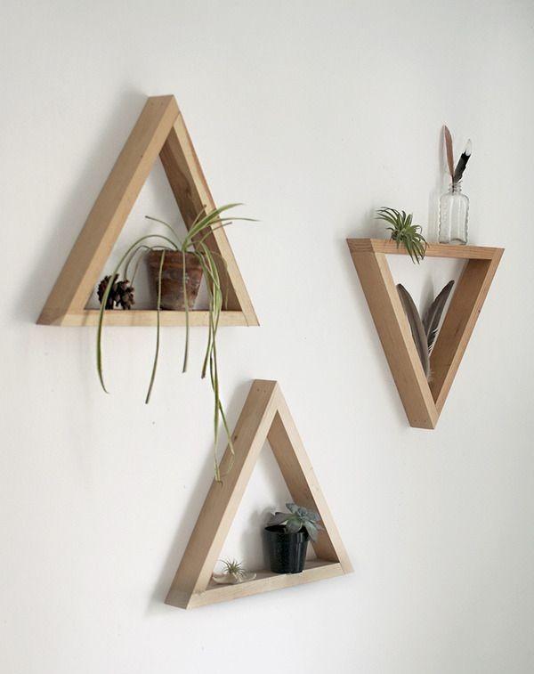 prateleiras triangulares