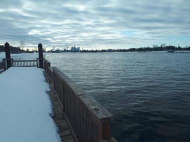 Photo of water body in winter taken by Chris Herc.