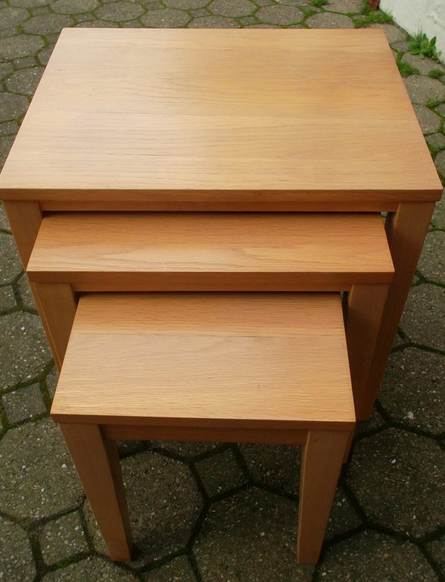 Nest of beech veneer tables turn the tables chichester nest of beech veneer tables watchthetrailerfo