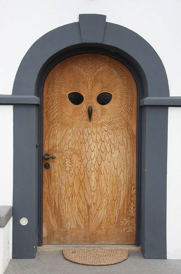 We Love How This Front Door Has Almost Been Treated As A Canvas Showcasing Lot Of Artistic Elements