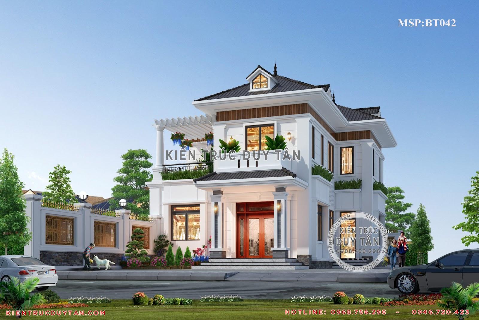 Biệt thự 2 tầng phong cách hiện đại được yêu thích nhất