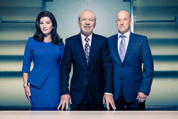 Ready for business: Karren Brady, Lord Sugar and Claude Littner