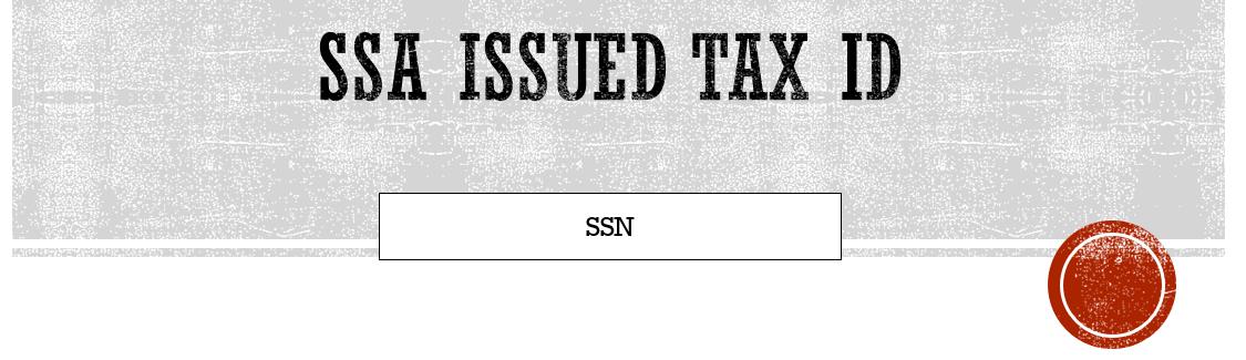 Tax ID SSA