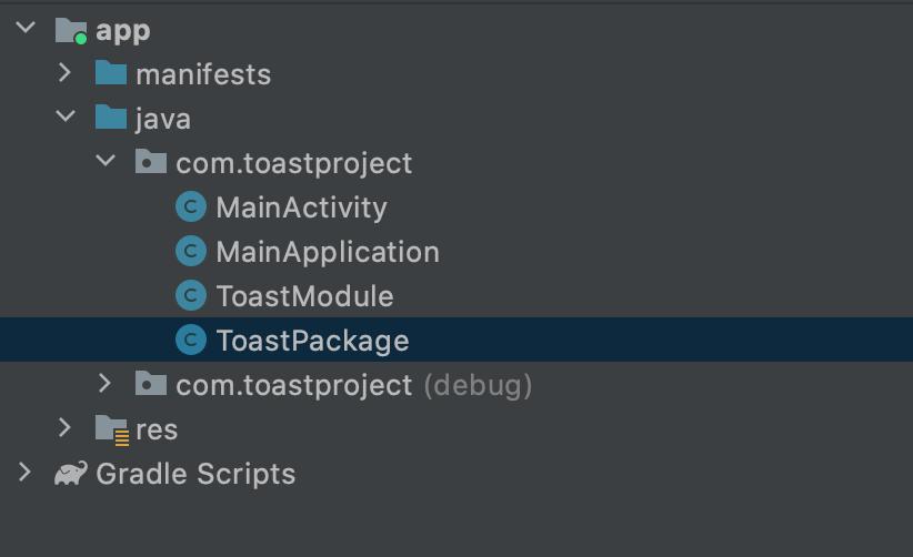 Android Native bridge creation