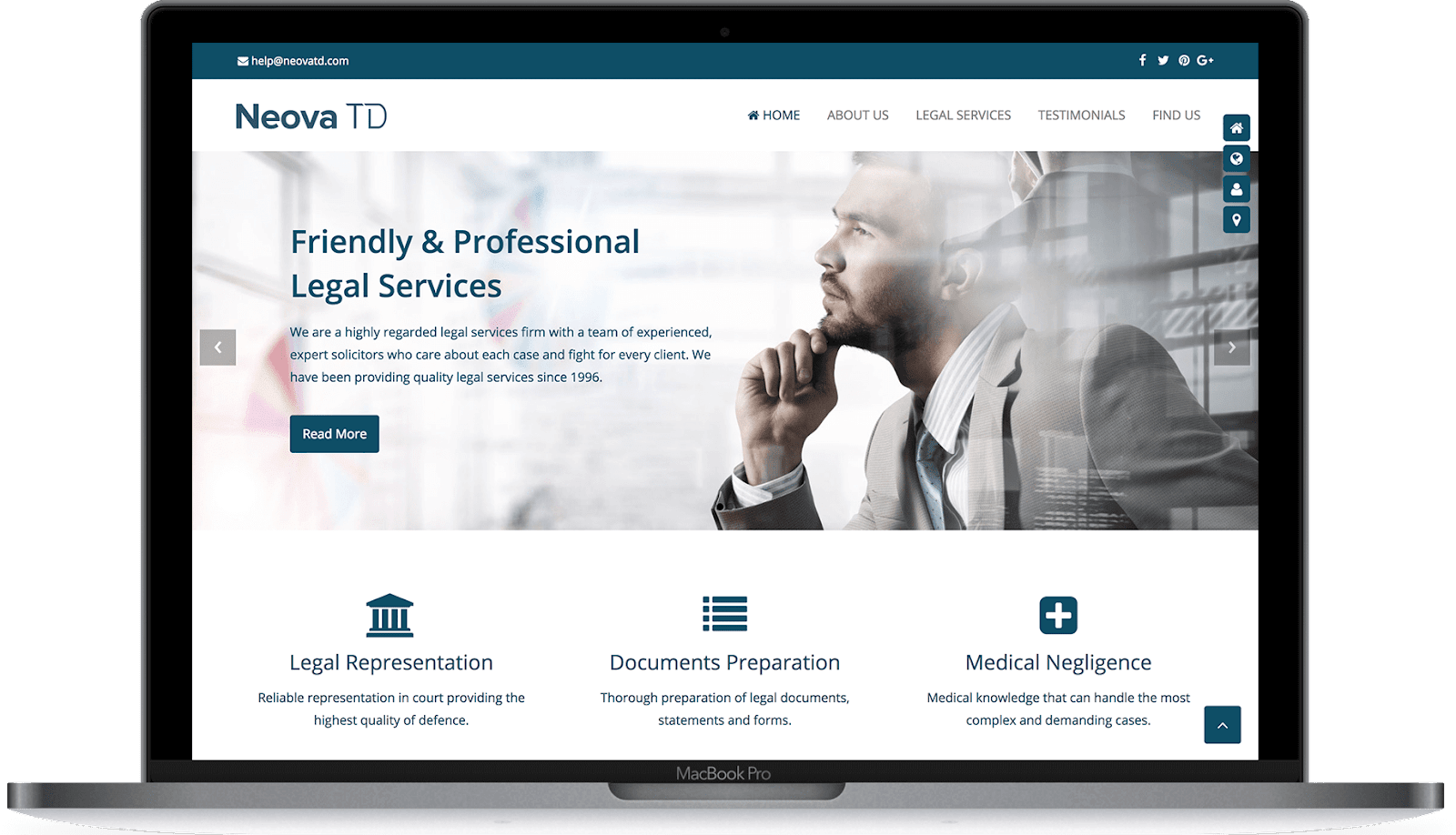 Make the website look professional