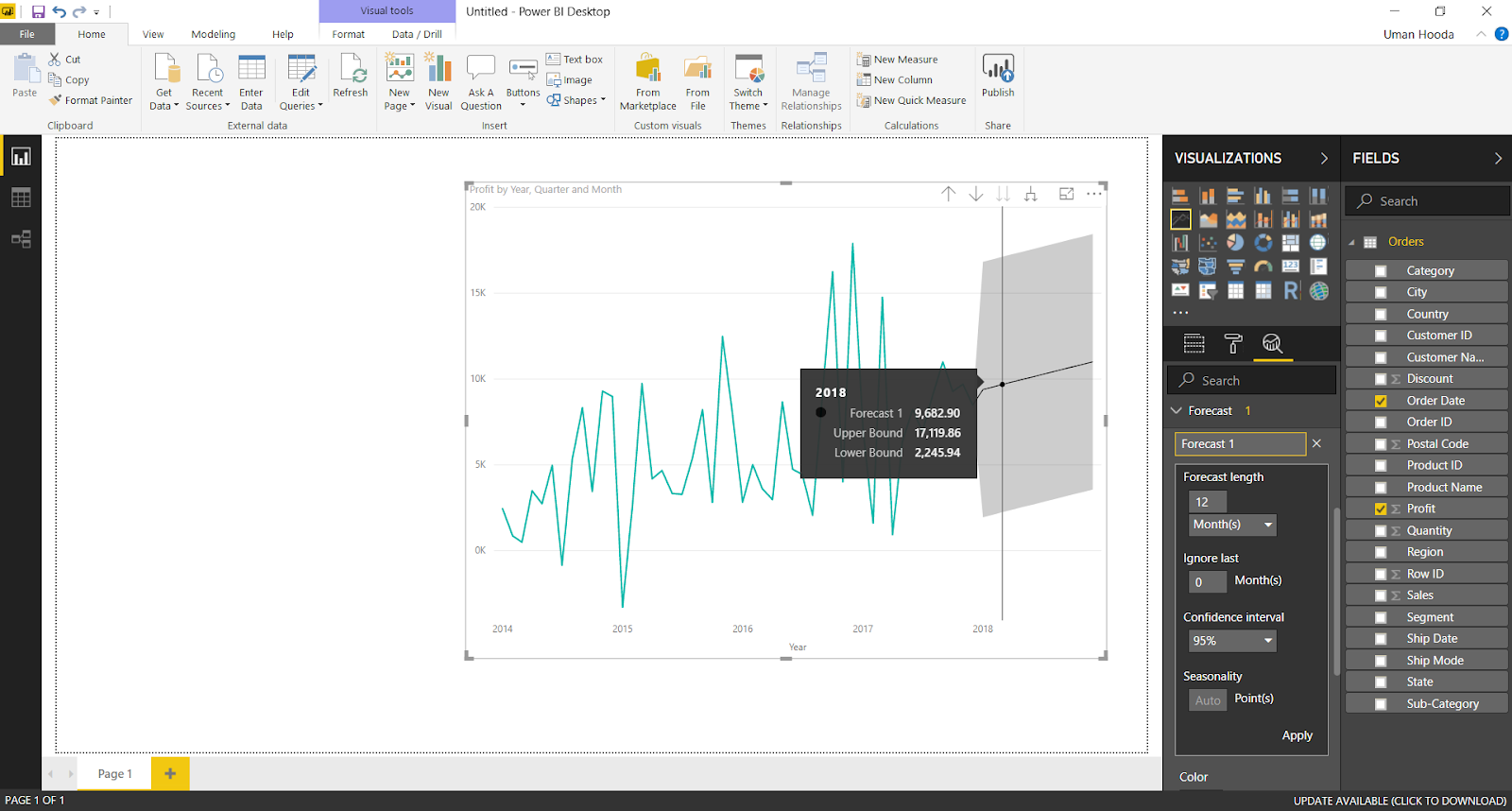 Forecast in Power BI 31