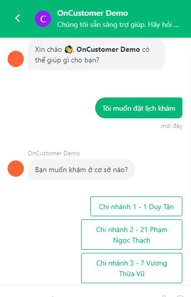 Chatbot OnCustomer