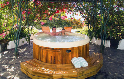 Jacuzzi in the heart of a flowering garden at Finca Rosa Blanca.  Connect to Nature in the Most Pleasant Way Six Senses Samui, Koh Samui, Thailand On a beautiful stretch of beach at the northern end of Koh Samui is a small piece of Thai paradise.  66 spacious villas tucked away in a tangle of tropical vegetation and offering all possible indulgences - spectacular views of the Gulf of Thailand from huge windows, through private pools in most villas to the service of a personal butler who takes care of all guests' needs.  In addition, guests enjoy an infinity pool, which seems to blend into the Indian Ocean, a pampering spa and an acclaimed restaurant.