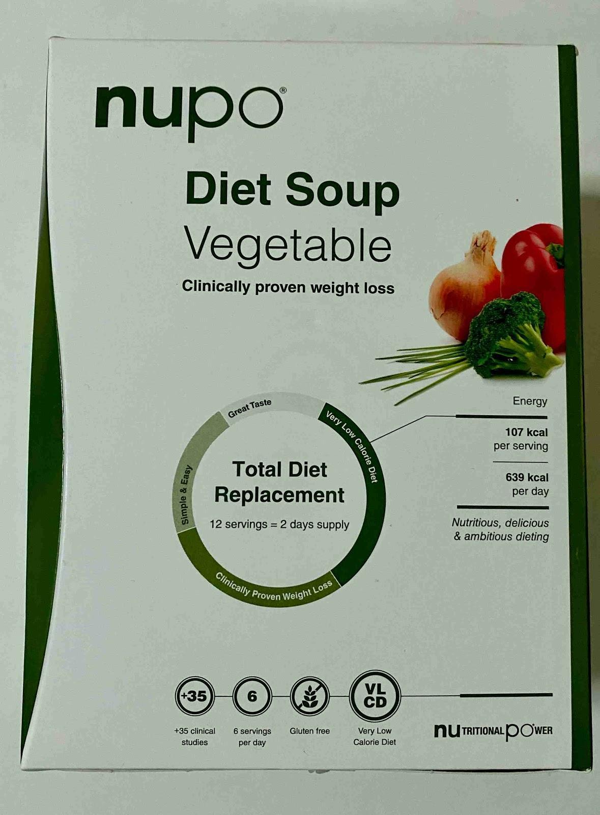 Recenze Vivantis: dieta NUPO - zeleninová polévka
