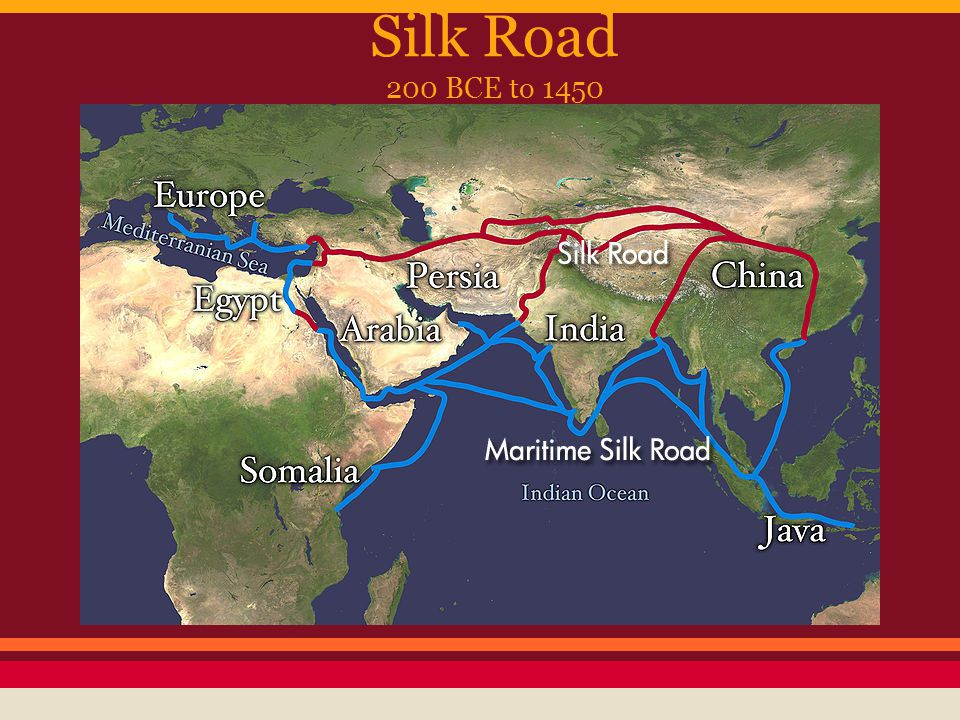 Image result for from rome to china silk road 200 BCE map