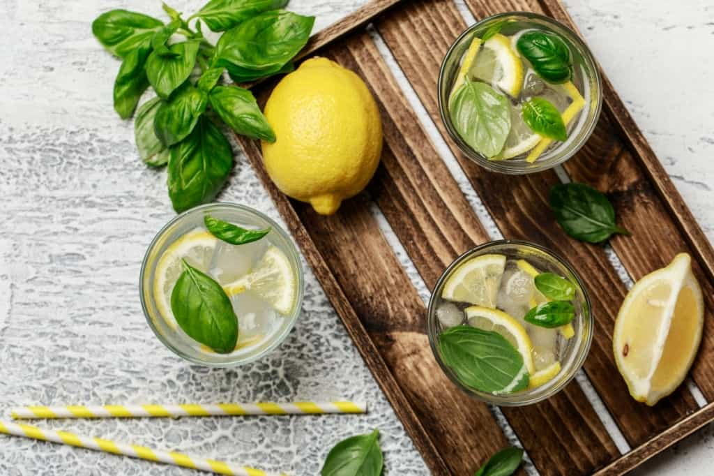 Lemon basil gives a lemonyaste.