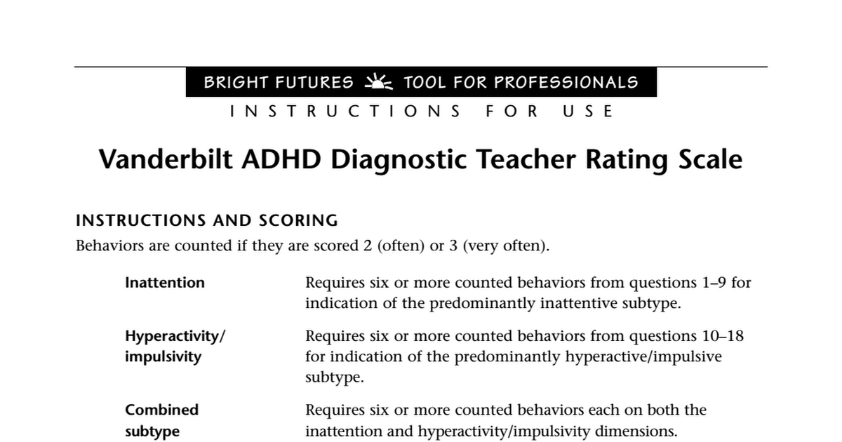 All About Registed Clinician Selection Adhd Rating Scales Www