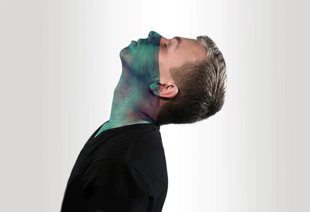 artistic photo of man on white backdrop