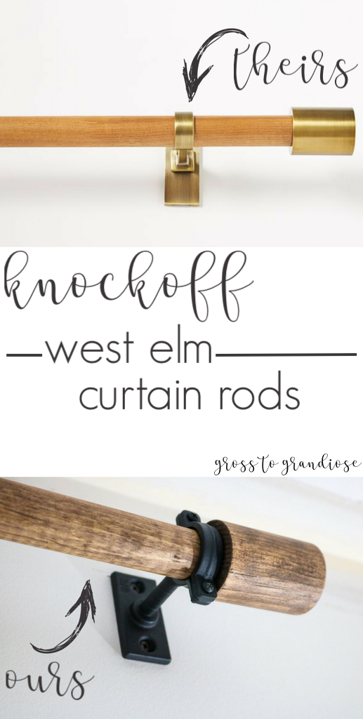 Create knockoff West Elm curtain rods with Living Letter Home. See all the Best Crafts of 2018 from more of your favorite bloggers at Halfpint Design.