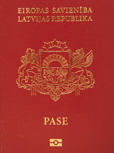 Latvian passport cover