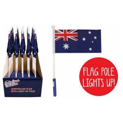 Discount Party Supplies Australian Flag Light Up Pole