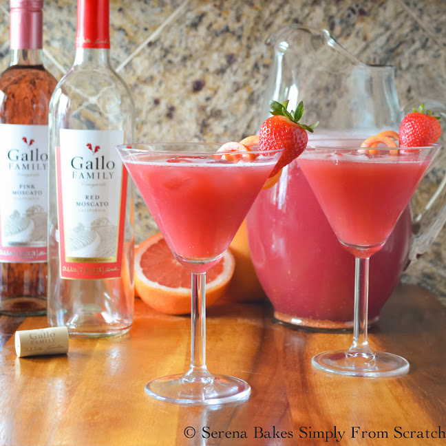 Sparkling Strawberry Grapefruit Moscato Punch