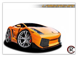 Image result for lamborghini car cartoon