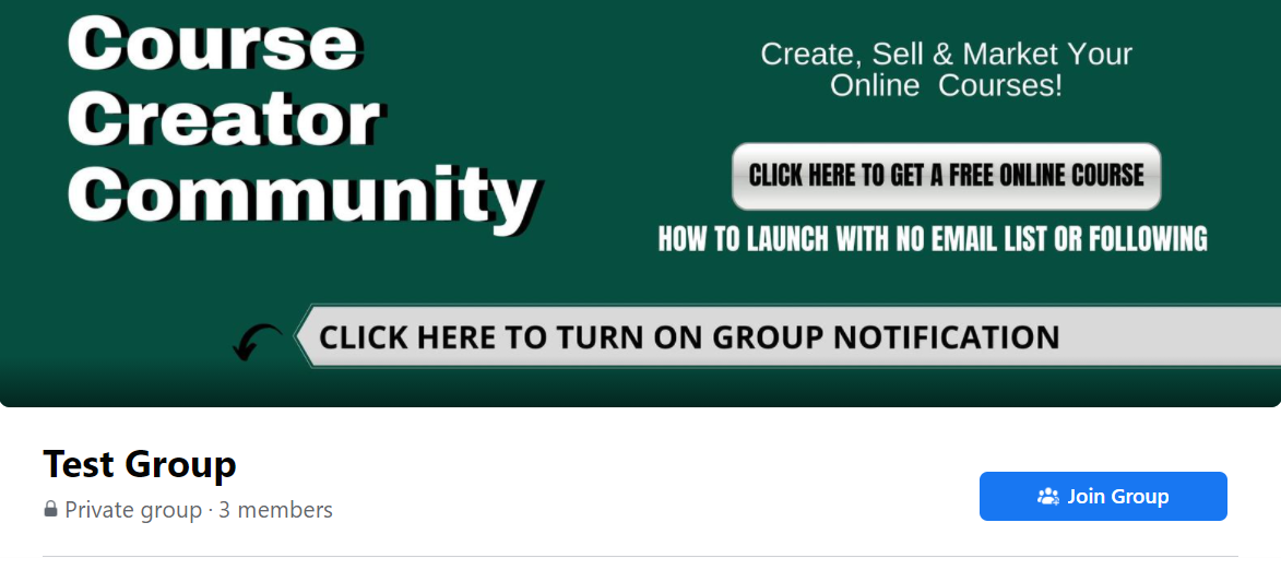Step 1: Log into Facebook and navigate to the Group you'd like to join Step 2: Click the 'Join Group Button'