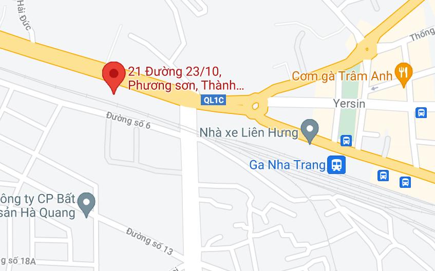 Địa điểm đón/trả khách tại Nha Trang