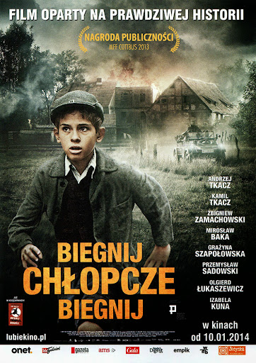 Przód ulotki filmu 'Biegnij, Chłopcze, Biegnij'
