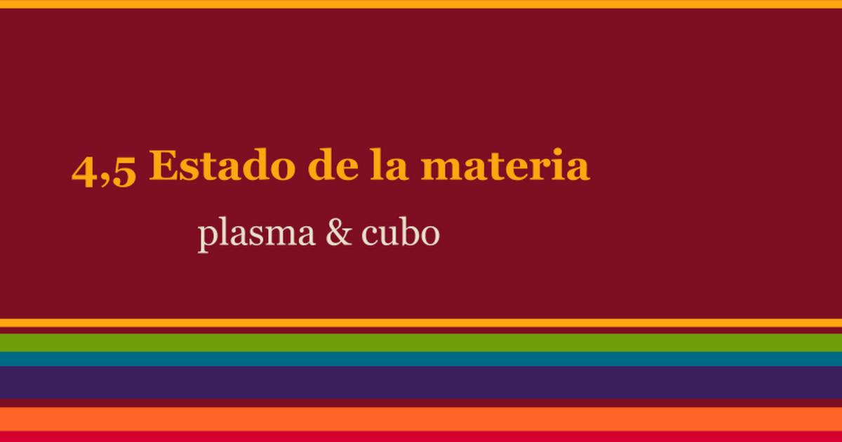 EL CUARTO Y QUINTO ESTADO DE LA MATERIA - Google Slides