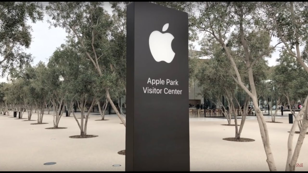 An image of Apple Park's signage—their headquarters design by Norman Foster.