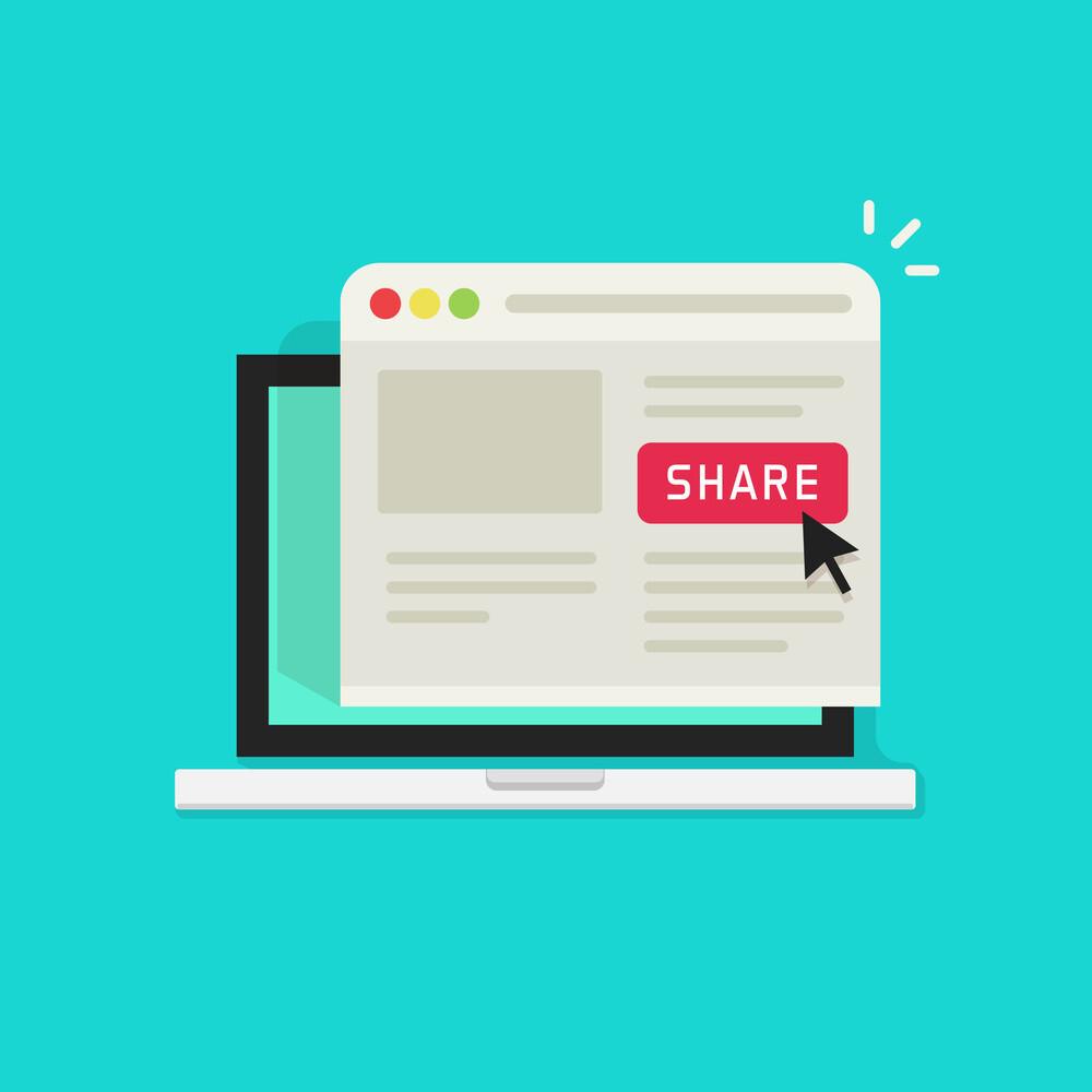 Tombol share untuk sidebar WordPress