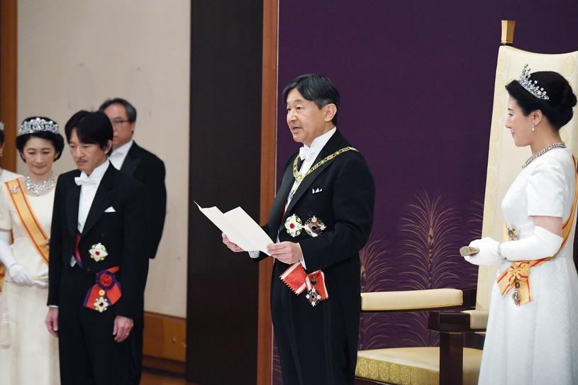 Nowy cesarz Japonii Naruhito wstąpił w środę na Chryzantemowy Tron / EPA/IMPERIAL HOUSEHOLD AGENCY /PAP/EPA