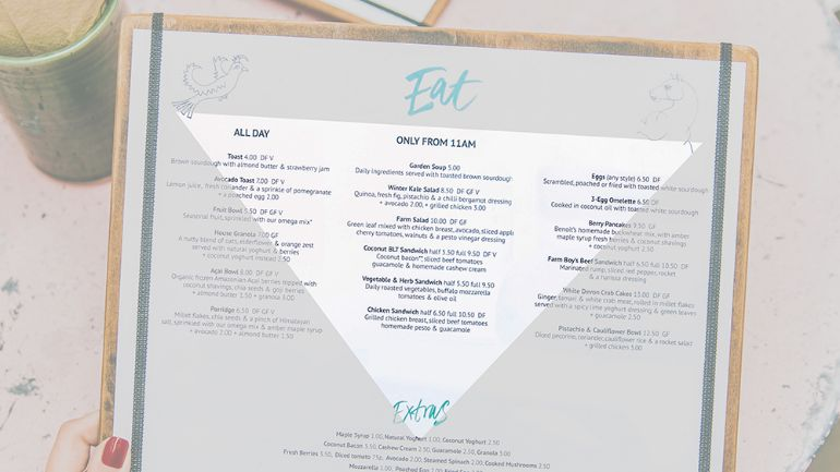 """The Golden Triangle"" highlighted on a restaurant menu to encourage upselling"