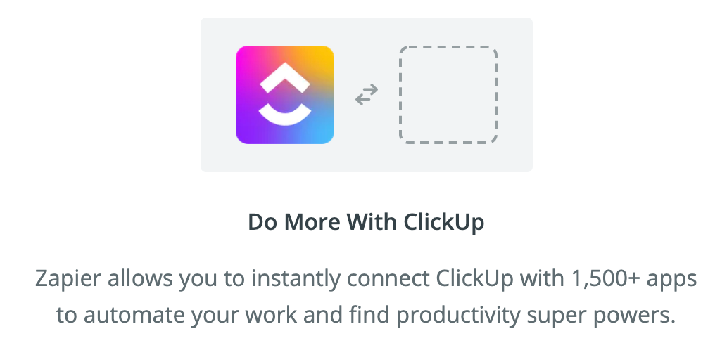 Do more with ClickUp